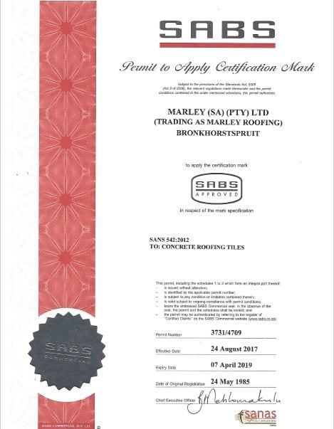 Ekandustria Plant SABS Certificate
