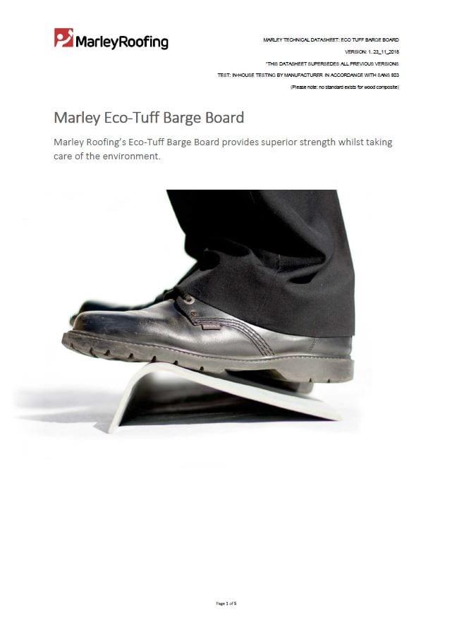 Marley eco-tuff barge board