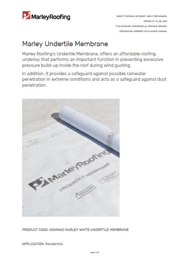 Marley undertile membrane