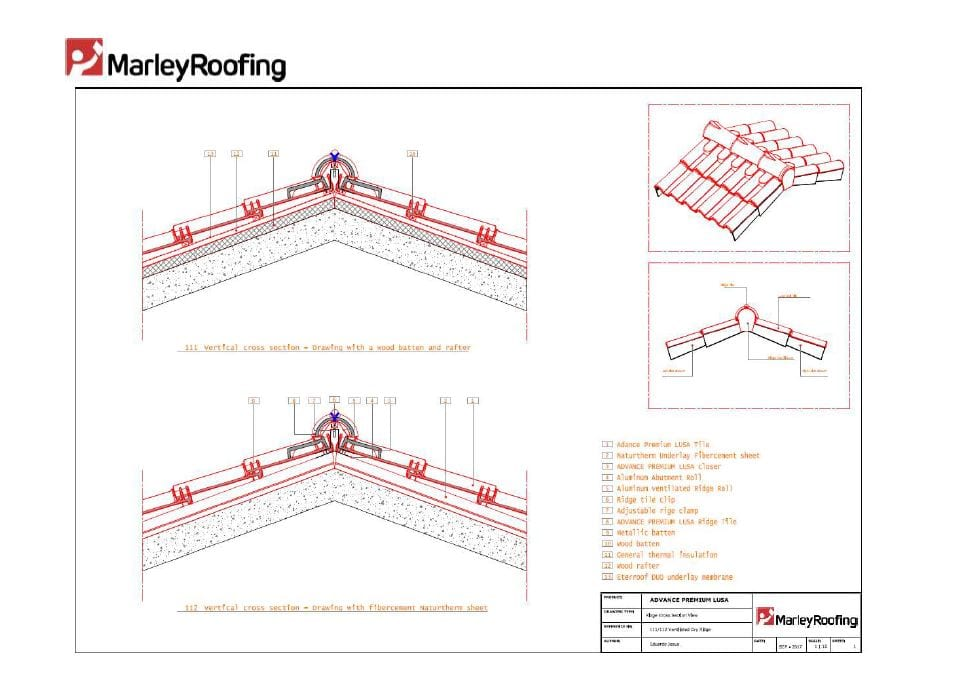Advanced Lusa Ventilated Dry Ridge Marley Roofing