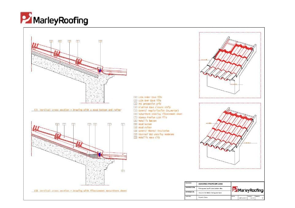 Advanced Lusa Ventilated Portuguese Eave Marley Roofing