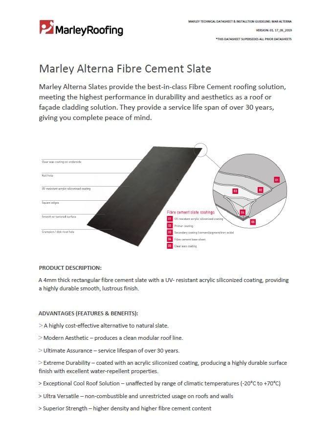 Marley Alterna Fibre Cement Datasheet