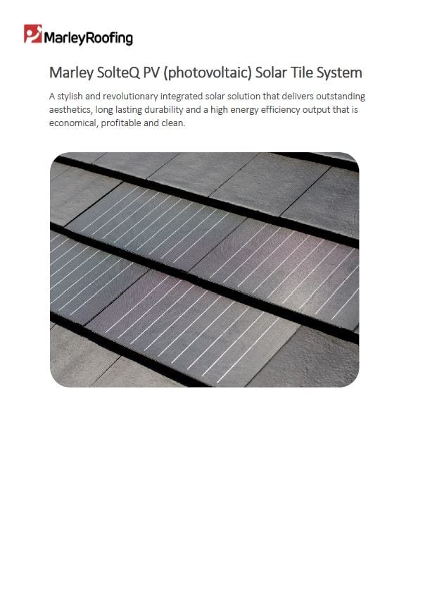 Marley SolteQ PV Solar Tile Datasheet and Q&A