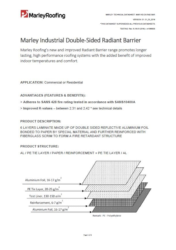 Marley Industrial Rad Barrier