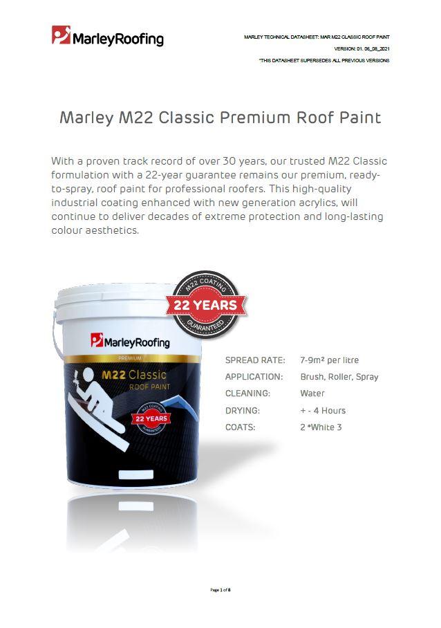 Marley M22 Technical Data Sheet